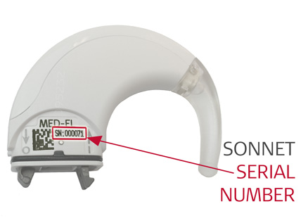Open SONNET Serial Number